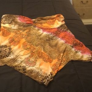 Other - Blouse 3x orange print